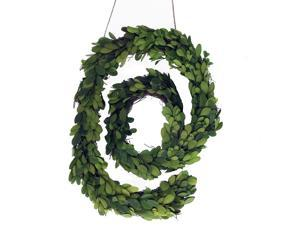 """Modern Home 12"""" Real Preserved Boxwood Monogram Wreath Letters - @"""