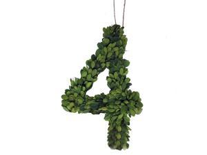 """Modern Home 12"""" Real Preserved Boxwood Monogram Wreath Letters - 4"""
