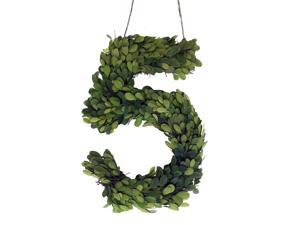 """Modern Home 12"""" Real Preserved Boxwood Monogram Wreath Letters - 5"""