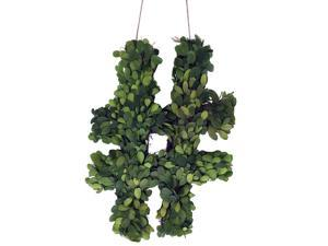 """Modern Home 12"""" Real Preserved Boxwood Monogram Wreath Letters - Hashtag"""