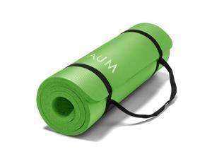 "AUM High Density HD Foam Tech Yoga Exercise Mat - 72"" x 24"" x 1/2"" - Kiwi Green"