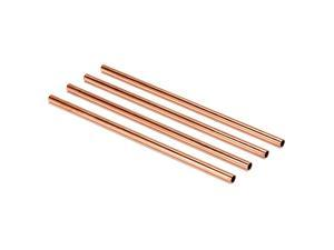 Modern Home Authentic 100% Solid Copper Moscow Mule Straws - Set of 4 - Handmade in India