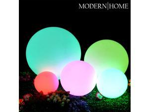 """Modern Home LED Glowing Sphere w/Infrared Remote Control - 8"""""""