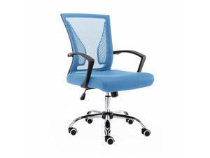 Modern Home Zuna Mid-Back Office Chair - Black/Blue