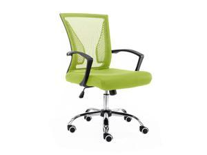 Modern Home Zuna Mid-Back Office Chair - Black/Lime