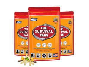 Meals Ready To Eat Survival Tabs - Vanilla Flavor (3 x 4 tabs/bag)