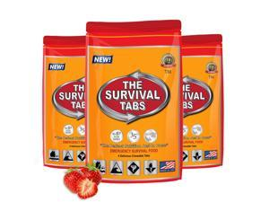 Meals Ready To Eat Survival Tabs - Strawberry Flavor (3 x 4 tabs/bag)
