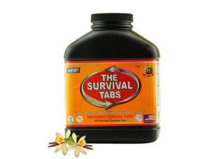 The Survival Tabs MRE's meal ready to eat - 15-Day Food Supply - Emergency Survival Food MRE Ration, Ready To Eat Meal, Gluten-Free, Non-GMO 25 Years Shelf Life (180 tablets/Black Bottle/Vanilla Malt)