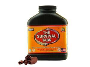 The Survival Tabs MRE's meal ready to eat - 15-Day Food Supply - Emergency Survival Food MRE Ration, Ready To Eat Meal, Gluten-Free, Non-GMO 25 Years Shelf Life (180 tablets/Black Bottle/Chocolate)