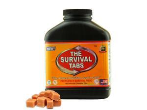 The Survival Tabs MRE's meal ready to eat - 15-Day Food Supply - Emergency Survival Food MRE Ration, Ready To Eat Meal, Gluten-Free, Non-GMO 25 Years Shelf Life (180 tablets/Black Bottle/Butterscotch)