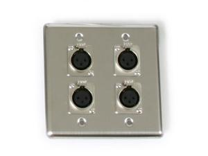 OSP Quad Wall Plate with 4 XLR