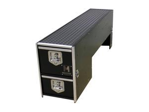 Mobile Strong HDP Wheel Well Storage Drawer for Pickup Trucks - Rubber Top