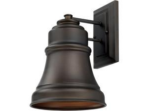 "13"" h Farmhouse Outdoor  Wall Lantern 1-Light Old Bronze Finish"