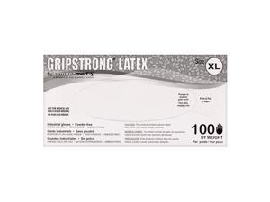 Sempermed GripStrong Latex Industrial Gloves, Powder Free 1 Box 100 Gloves - Size XL