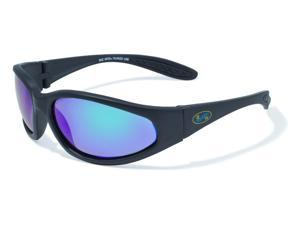 BluWater Polarized Sharx Series Sunglasses with Matte Black Frames and GT-Marine Lenses