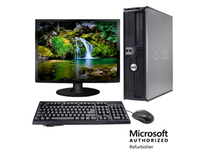 "Dell Optiplex 745 Desktop Computer Package - 17"" LCD - 2.8GHz Pentium D 2GB 250GB WIFI Windows 7 Home Premium"