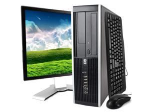 HP Black Compaq 8100 Desktop Intel i5 Dual Core 3.2GHz 8GB RAM 1TB HDD Intel HD Graphics DVD-RW Windows 10 Professional 19'' Display Keyboard Mouse