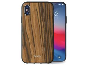 Evutec Case Compatible with iPhone X / Xs, Wood Case Thin Slim Protective Phone