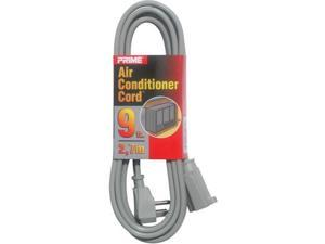 Prime 12 -Pack, Air Conditioner and Major Appliance Extension Cord, Gray, 9 Feet