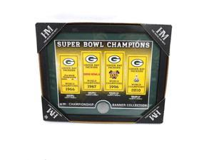 NFL Green Bay Packers Highland Mint Super Bowl Champions Banner Collection