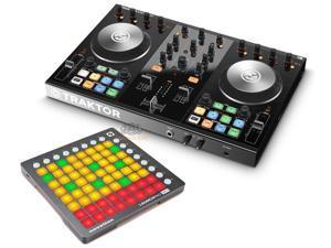 Native Instruments Traktor Kontrol S2 DJ Controller w/ Novation launchpad Mini