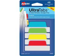 "Avery Tabs Repositionable 2-Sided 2-1/2""x1"" 48/PK AST 74866"