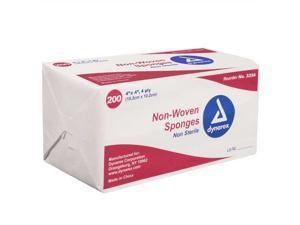 Dynarex Non-Woven Sponge Non-Sterile 4'' x 4'' 4 Ply (200/Pack)