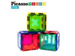 PicassoTiles Magnetic Building Blocks 22pc Numerical Magnet Tiles Toy PT22