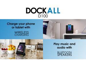 Azpen D100 Dock-All-in-One Docking Wireless Charging Station Bluetooth Speaker Multi-Device Multi Ports