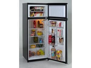 Avanti  RA7316PST:  Model  RA7316PST  -  7.4  CF  Two  Door  Apartment  Size  Refrigerator  -  Black  w/Platinum  Finish