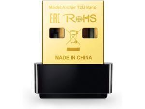 TP-Link Mini - AC600 USB 2.0 Wifi Adapter | 2.4G/5G Dual Band Wireless Network Adapter for PC Desktop | Mini Travel Size | Supports Windows 10, 8.1, 8, 7, XP / Mac OS X 10.9-10.14 (Archer T2U Nano) (R