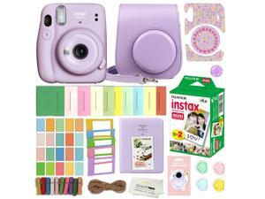 Fujifilm Instax Mini 11 Instant Camera (Lilac Purple) With Case, 20 Fujifilm Films and More Accessories with Quality Photo Microfiber Cloth