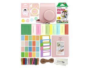 Fuji Film Instax Mini 11 Deluxe 8 in 1 Accessory Bundle Kit. Blush Pink