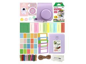 Fuji Film Instax Mini 11 Deluxe 8 in 1 Accessory Bundle Kit. Lilac Purple