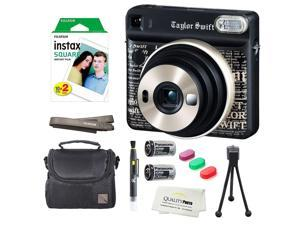 Fujifilm Instax SQUARE SQ6 Instant Film Camera (Taylor Swift Edition) + instax Wide Instant Film, 20 Square Sheets + Extra Accessories