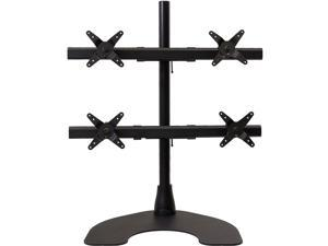 Ergotech 100-D28-B22-HD Quad HD LCD Monitor Desk Stand - 28-inch pole - Black - Quad 2 over 2 w/Heavy Duty Stand