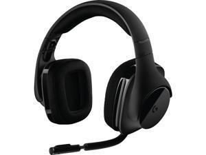 Logitech G533 Wireless Dts 7.1 Surround Gaming Headset - Stereo - Wireless - 49.2 ft - Over-the-head - Binaural - Circumaural - Black