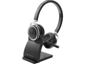 Spracht Prestige Combo Headset - USB - Wired/Wireless - Bluetooth - 33 ft - Over-the-head - Noise Cancelling Microphone - Black