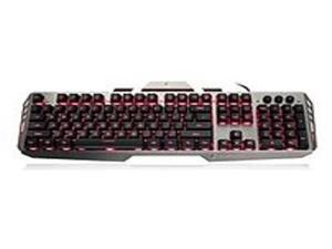 IOGEAR GKB704L-BK Kaliber Gaming HVER Aluminum Backlit Wired Keyboard - Black