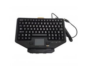Havis PKG-KB-205 Rugged Chiclet Style Keyboard with Mount - Wired - USB - Backlit - Touchpad - Black
