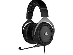 Corsair HS60 Pro Surround Gaming Headset - Carbon - Stereo - Mini-phone - Wired - 32 Ohm - 20 Hz - 20 kHz - Over-the-head - Binaural - Circumaural - 5.91 ft Cable - Noise Cancelling, ...
