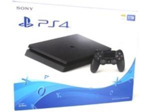 Sony PlayStation 4 Slim Gaming Console - Game Pad Supported - Wireless - Black - ATI Radeon - Blu-ray Disc Player - 1 TB HDD - Gigabit Ethernet - Bluetooth - Wireless LAN - HDMI - USB - Octa-core ...