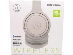 Audio-Technica ATH-S200BTWH Wireless On-Ear Headphones with Built-in Mic & Controls - Stereo - Wireless - Bluetooth - 32 Ohm - 5 Hz - 32 kHz - Over-the-head - Binaural - Circumaural - Condenser, ...