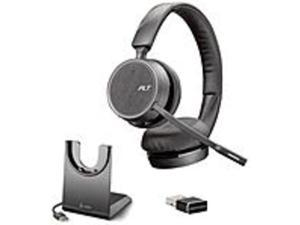 Poly Voyager 212741-01 4220 UC Charge Stand UC,USB-A - Stereo - Wireless - Bluetooth - 98.4 ft - 32 Ohm - 20 Hz - 20 kHz - Over-the-head - Binaural - Supra-aural - Uni-directional, Noise ...