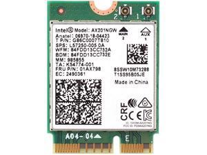 Intel AX201NGW Wi-Fi 6 AX201 Wireless Card - Bluetooth 5.1 - 2.4 GHz - 5 GHz - M.2 2230 - 2.4 Gbps - Dual Band