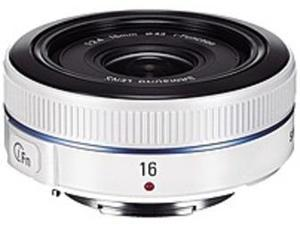Samsung EX-W16ANW 16 mm f/2.4 Ultra Wide Angle Pancake Lens for NX Camera - White
