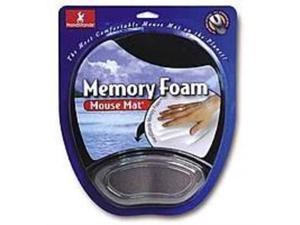 Handstands 012844591071 Memory Foam Mouse Mat with Wrist Pillow - Black/Gray