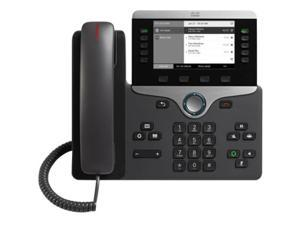 Cisco 8811 IP Phone - Cable - Wall Mountable - Black - VoIP - Caller ID - SpeakerphoneUser Connect License - 2 x Network (RJ-45) - PoE Ports