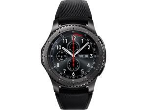 Samsung Gear S3 frontier Smart Watch - Wrist - Accelerometer, Barometer, Gyro Sensor, Heart Rate Monitor, Ambient Light Sensor - Alarm, Text Messaging, Email - Distance Traveled, Heart Rate, Sleep ...