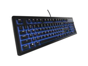 SteelSeries Apex 100 Keyboard - Cable Connectivity - USB 3.0 Interface - 104 Key - Windows - Membrane Keyswitch - Black